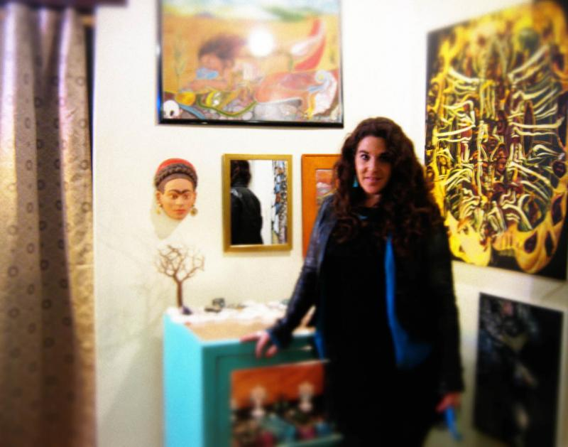 Santa Fe Artist, Rachel Houseman, Eye on the Mountain Art Gallery